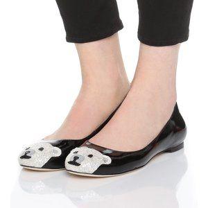 Kate Spade Jamie Polar Bear Flat Size 8